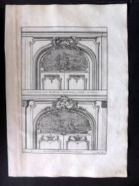Vignola 1738 Architectural Print. Decoration for Closed Doors 99N